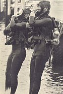 Gary on right 'Diving Team One' Oct. 1967
